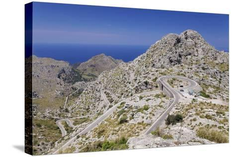 Serpentine Road to the Bay Cala De Sa Calobra-Markus Lange-Stretched Canvas Print