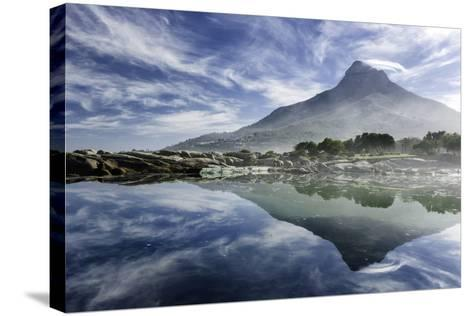 Lenticular Cloud Above Lion's Head on Signal Hill Reflected in Ocean, Camp's Bay, Cape Town-Kimberly Walker-Stretched Canvas Print