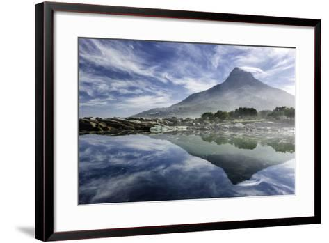 Lenticular Cloud Above Lion's Head on Signal Hill Reflected in Ocean, Camp's Bay, Cape Town-Kimberly Walker-Framed Art Print