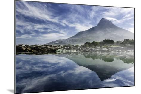 Lenticular Cloud Above Lion's Head on Signal Hill Reflected in Ocean, Camp's Bay, Cape Town-Kimberly Walker-Mounted Photographic Print