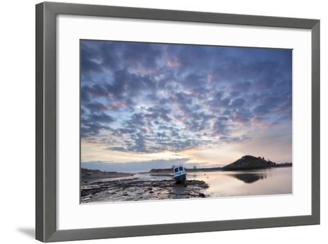 Church Hill and the Aln Estuary During a Stunning Winter Sunrise from the Beach at Low Tide-Lee Frost-Framed Art Print