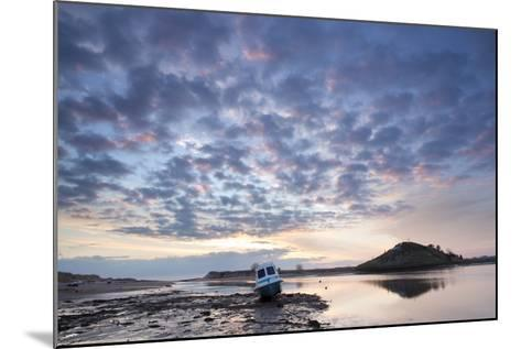 Church Hill and the Aln Estuary During a Stunning Winter Sunrise from the Beach at Low Tide-Lee Frost-Mounted Photographic Print
