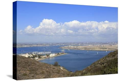 San Diego Bay Viewed from Cabrillo National Monument, Point Loma, San Diego, California, Usa-Richard Cummins-Stretched Canvas Print