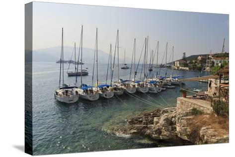 Yachts and Ships at Anchor, Fiskardo, Kefalonia (Cephalonia)-Eleanor Scriven-Stretched Canvas Print