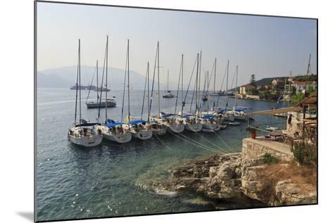Yachts and Ships at Anchor, Fiskardo, Kefalonia (Cephalonia)-Eleanor Scriven-Mounted Photographic Print