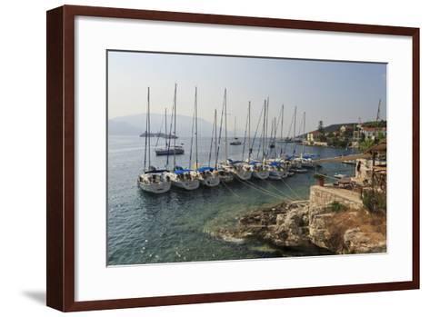 Yachts and Ships at Anchor, Fiskardo, Kefalonia (Cephalonia)-Eleanor Scriven-Framed Art Print