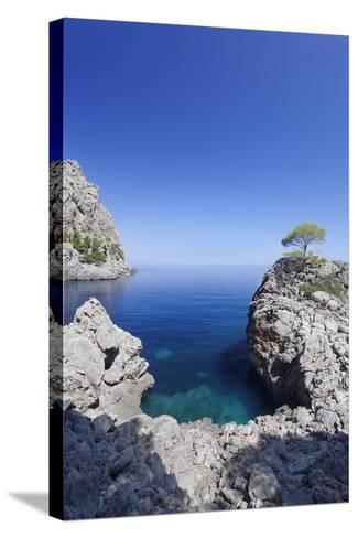 Bay Cala De Sa Calobra, Majorca (Mallorca), Balearic Islands (Islas Baleares)-Markus Lange-Stretched Canvas Print