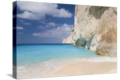 Limestone Cliffs Towering Above Turquoise Sea, Navagio Bay, Anafonitria-Ruth Tomlinson-Stretched Canvas Print