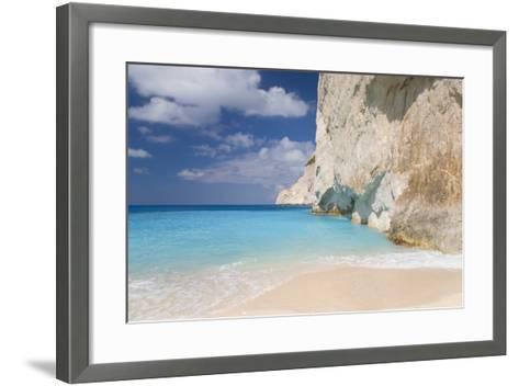 Limestone Cliffs Towering Above Turquoise Sea, Navagio Bay, Anafonitria-Ruth Tomlinson-Framed Art Print