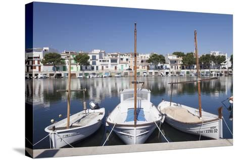 Fishing Boats at Fishing Port, Porto Colom, Majorca (Mallorca)-Markus Lange-Stretched Canvas Print