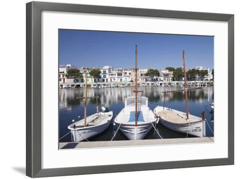Fishing Boats at Fishing Port, Porto Colom, Majorca (Mallorca)-Markus Lange-Framed Art Print