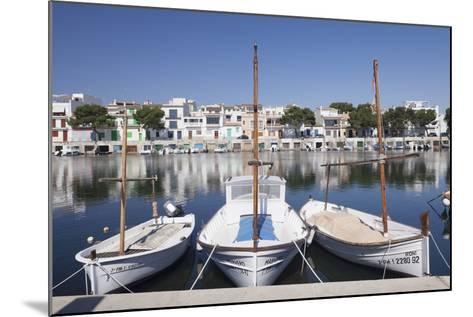 Fishing Boats at Fishing Port, Porto Colom, Majorca (Mallorca)-Markus Lange-Mounted Photographic Print