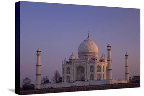 Taj Mahal North Side Viewed across Yamuna River at Sunset, Agra, Uttar Pradesh, India, Asia-Peter Barritt-Stretched Canvas Print