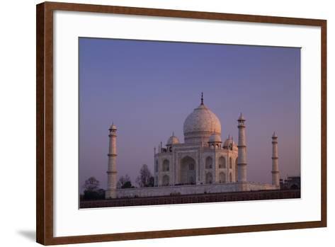 Taj Mahal North Side Viewed across Yamuna River at Sunset, Agra, Uttar Pradesh, India, Asia-Peter Barritt-Framed Art Print