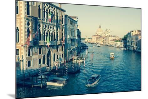 The Grand Canal and the Domed Santa Maria Della Salute, Venice, Veneto, Italy, Europe-Amanda Hall-Mounted Photographic Print