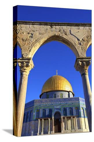 The Dome of the Rock, Temple Mount, UNESCO World Heritage Site, Jerusalem, Israel, Middle East-Neil Farrin-Stretched Canvas Print