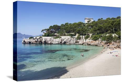 Beach and Bay of Cala Gat, Cala Ratjada, Majorca (Mallorca)-Markus Lange-Stretched Canvas Print