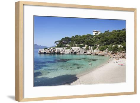Beach and Bay of Cala Gat, Cala Ratjada, Majorca (Mallorca)-Markus Lange-Framed Art Print