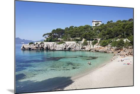 Beach and Bay of Cala Gat, Cala Ratjada, Majorca (Mallorca)-Markus Lange-Mounted Photographic Print