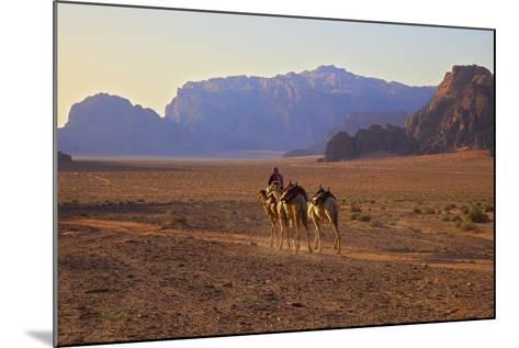 Bedouin with Camels, Wadi Rum, Jordan, Middle East-Neil Farrin-Mounted Photographic Print