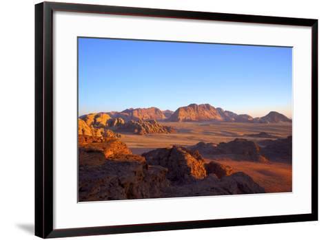 Tourist at Wadi Rum, Jordan, Middle East-Neil Farrin-Framed Art Print