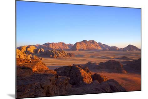 Tourist at Wadi Rum, Jordan, Middle East-Neil Farrin-Mounted Photographic Print