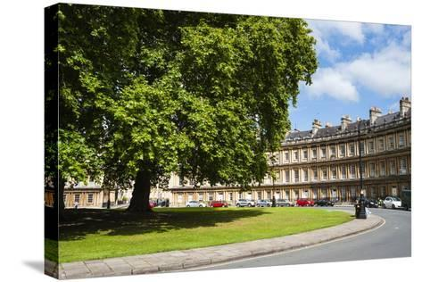The Circus, Georgian Architecture in Bath, Avon and Somerset, England, United Kingdom, Europe-Matthew Williams-Ellis-Stretched Canvas Print