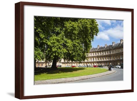 The Circus, Georgian Architecture in Bath, Avon and Somerset, England, United Kingdom, Europe-Matthew Williams-Ellis-Framed Art Print