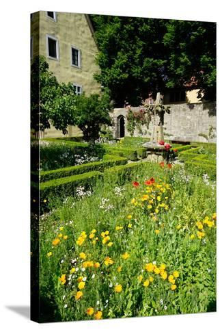 The Cloister Garden, Rothenburg Ob Der Tauber, Romantic Road, Franconia, Bavaria, Germany, Europe-Robert Harding-Stretched Canvas Print