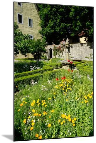 The Cloister Garden, Rothenburg Ob Der Tauber, Romantic Road, Franconia, Bavaria, Germany, Europe-Robert Harding-Mounted Photographic Print