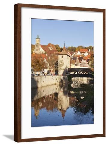 Kocher River and Old Town, Schwaebisch Hall, Hohenlohe, Baden Wurttemberg, Germany, Europe-Markus Lange-Framed Art Print