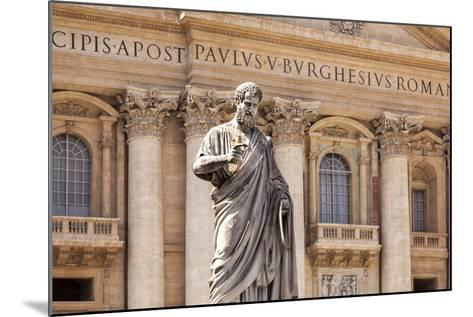 Statue of St. Peter, St. Peter's Piazza, Vatican, Rome, Lazio, Italy, Europe-Simon Montgomery-Mounted Photographic Print