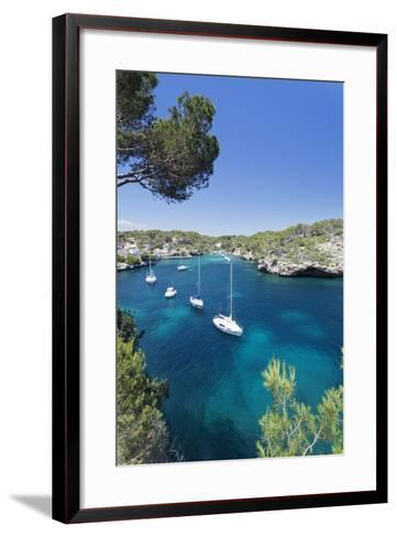 Bay of Cala Figuera, Majorca (Mallorca), Balearic Islands (Islas Baleares)-Markus Lange-Framed Art Print