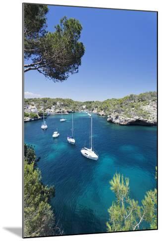 Bay of Cala Figuera, Majorca (Mallorca), Balearic Islands (Islas Baleares)-Markus Lange-Mounted Photographic Print