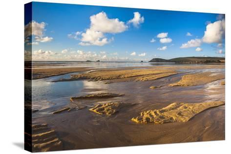 Trevose Head and Constantine Bay, Cornwall, England, United Kingdom, Europe-Matthew Williams-Ellis-Stretched Canvas Print