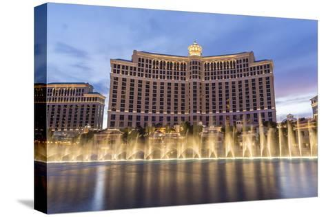 Bellagio at Dusk with Fountains, the Strip, Las Vegas, Nevada, Usa-Eleanor Scriven-Stretched Canvas Print