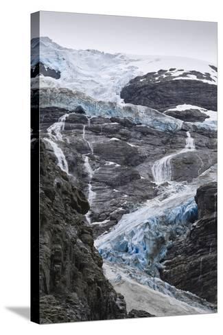 Blue Ice of Kjenndalen Glacier, Jostedalsbreen National Park, Lodal Valley-Eleanor Scriven-Stretched Canvas Print