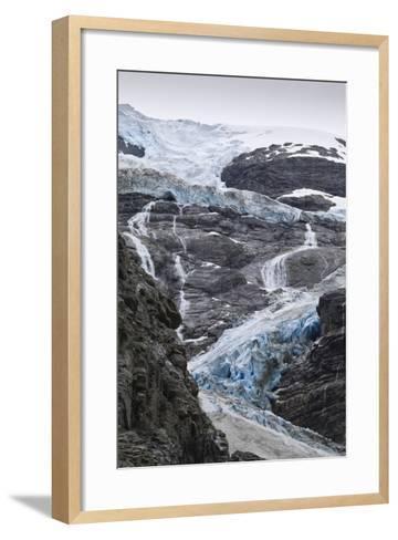 Blue Ice of Kjenndalen Glacier, Jostedalsbreen National Park, Lodal Valley-Eleanor Scriven-Framed Art Print