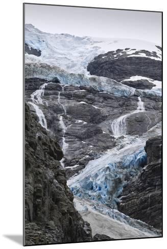 Blue Ice of Kjenndalen Glacier, Jostedalsbreen National Park, Lodal Valley-Eleanor Scriven-Mounted Photographic Print