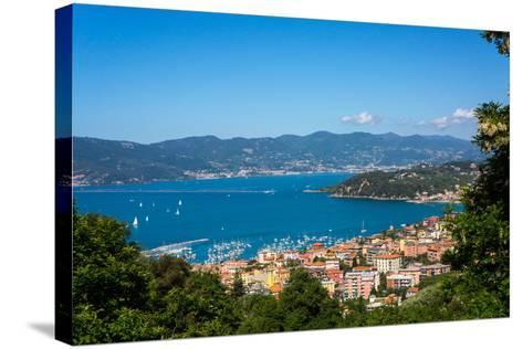 Lerici, View Overlooking Town and Bay, Liguria, Italy, Europe-Peter Groenendijk-Stretched Canvas Print