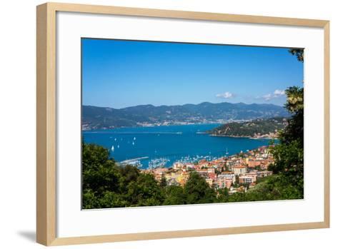 Lerici, View Overlooking Town and Bay, Liguria, Italy, Europe-Peter Groenendijk-Framed Art Print