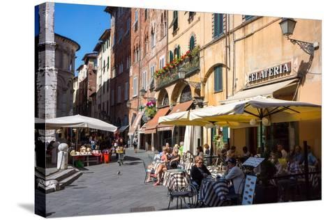 Picturesque Street in Lucca, Tuscany, Italy, Europe-Peter Groenendijk-Stretched Canvas Print