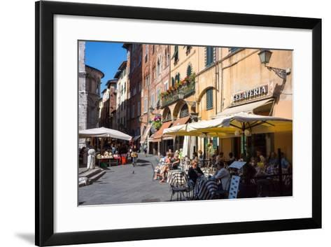 Picturesque Street in Lucca, Tuscany, Italy, Europe-Peter Groenendijk-Framed Art Print