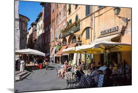 Picturesque Street in Lucca, Tuscany, Italy, Europe-Peter Groenendijk-Mounted Photographic Print