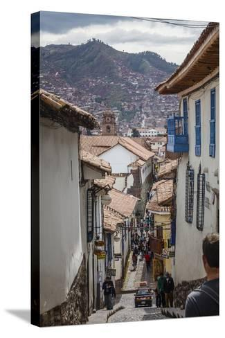 Street Scene in San Blas Neighbourhood, Cuzco, UNESCO World Heritage Site, Peru, South America-Yadid Levy-Stretched Canvas Print