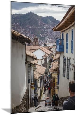 Street Scene in San Blas Neighbourhood, Cuzco, UNESCO World Heritage Site, Peru, South America-Yadid Levy-Mounted Photographic Print