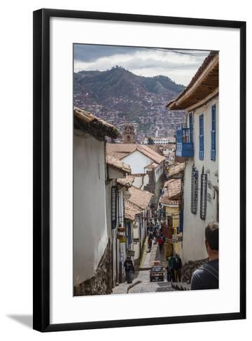 Street Scene in San Blas Neighbourhood, Cuzco, UNESCO World Heritage Site, Peru, South America-Yadid Levy-Framed Art Print