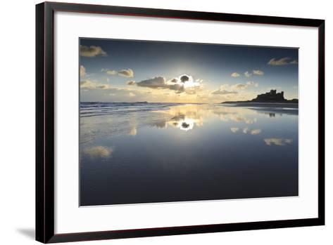 Bamburgh and Farne Island Winter Reflections, Bamburgh, Northumberland, England-Eleanor Scriven-Framed Art Print