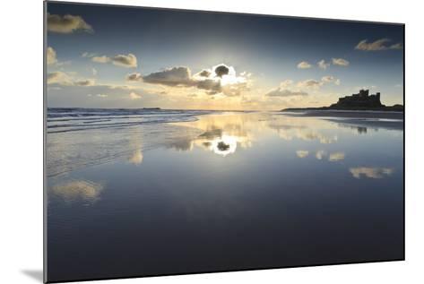 Bamburgh and Farne Island Winter Reflections, Bamburgh, Northumberland, England-Eleanor Scriven-Mounted Photographic Print
