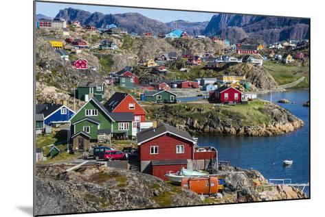 View of the Brightly Colored Houses in Sisimiut, Greenland, Polar Regions-Michael Nolan-Mounted Photographic Print